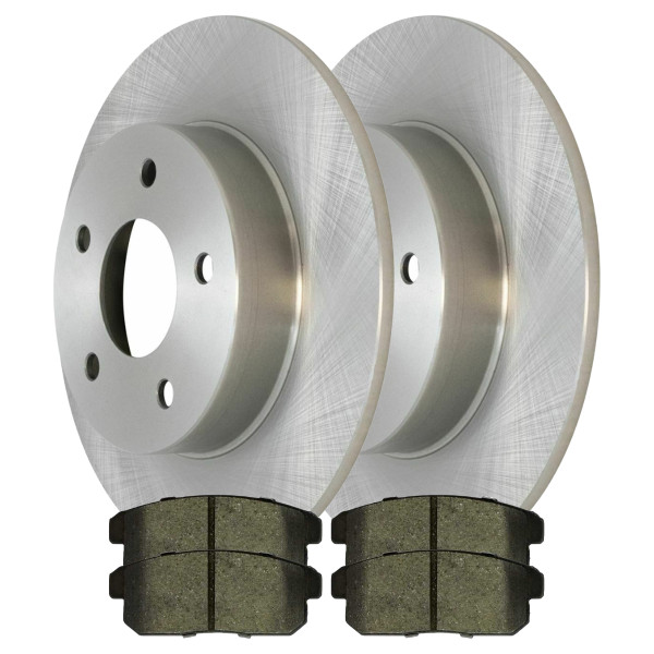 [Rear Set] 2 Brake Rotors & 1 Set Ceramic Brake Pads - Part # CBO41136900CMA