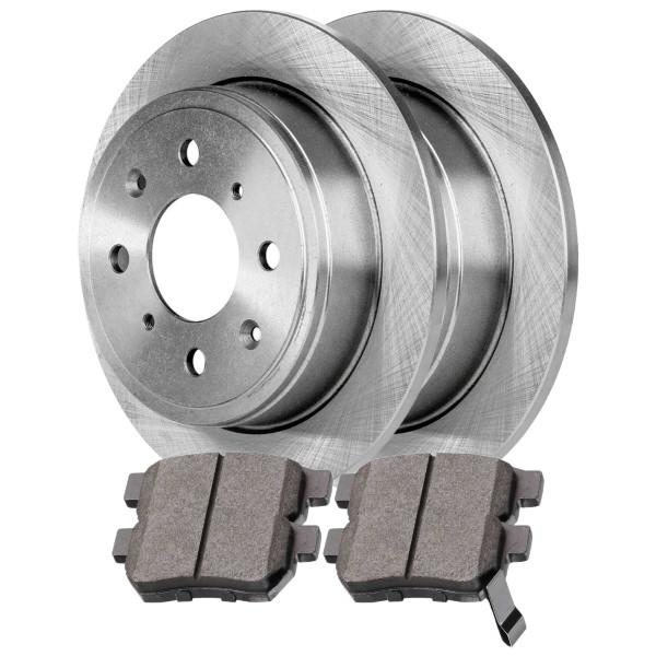 [Rear Set] 2 Brake Rotors & 1 Set Ceramic Brake Pads - Part # CBO41151374CIN