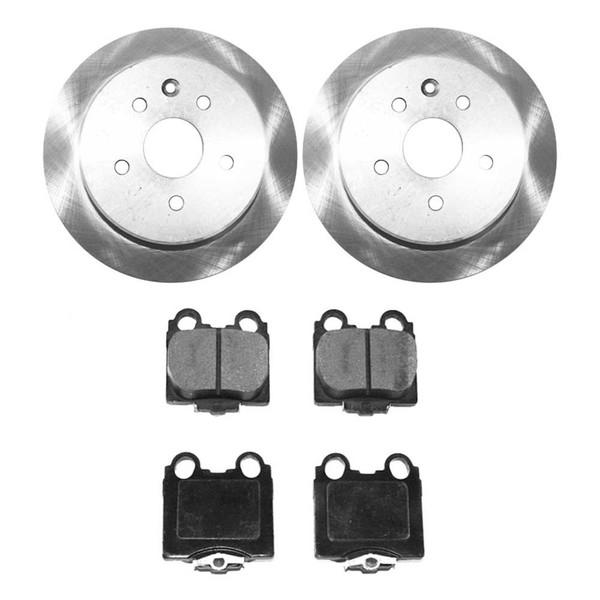 [Rear Set] 2 Brake Rotors & 1 Set Ceramic Brake Pads - Part # CBO41255771CG