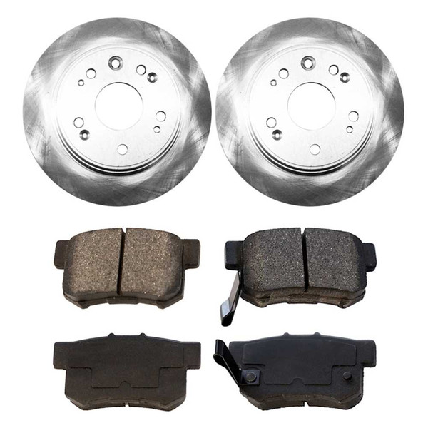 [Rear Set] 2 Brake Rotors & 1 Set Ceramic Brake Pads - Part # CBO41306536CCR