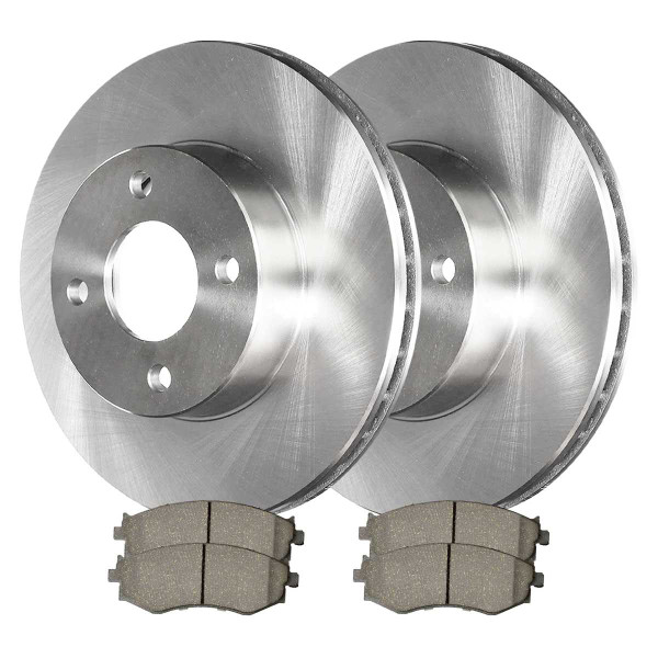 Front Ceramic Brake Pad and Rotor Bundle - Part # CBO41309279C32