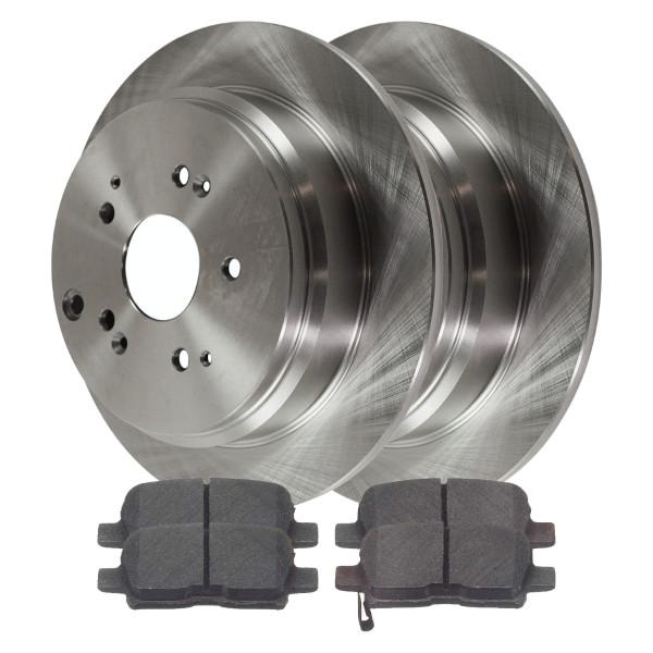 [Rear Set] 2 Brake Rotors & 1 Set Ceramic Brake Pads - Part # CBO41319865COD