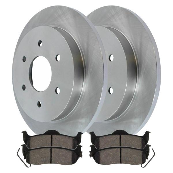 [Rear Set] 2 Brake Rotors & 1 Set Ceramic Brake Pads - Part # CBO413311041CAR