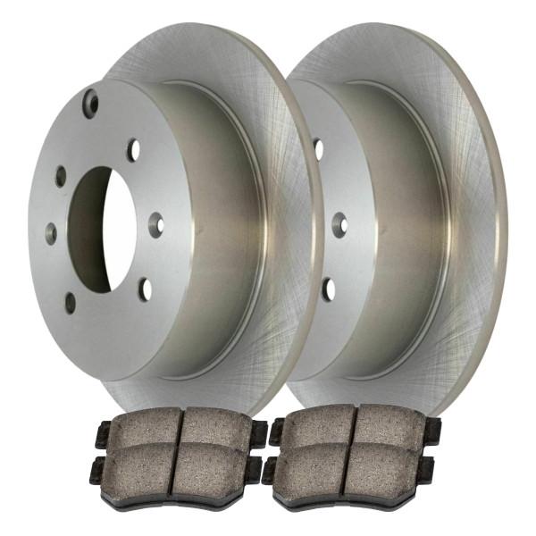 [Rear Set] 2 Brake Rotors & 1 Set Ceramic Brake Pads - Part # CBO41335813COP