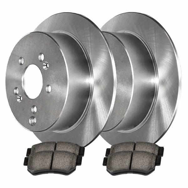 Rear Ceramic Brake Pad and Rotor Bundle 5 Stud - Part # CBO41341813CXG