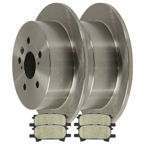 [Rear Set] 2 Brake Rotors & 1 Set Ceramic Brake Pads - Part # CBO41358996CRX