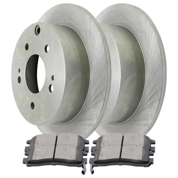 [Rear Set] 2 Brake Rotors & 1 Set Ceramic Brake Pads - Part # CBO41362383CEC