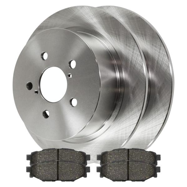 [Rear Set] 2 Brake Rotors & 1 Set Ceramic Brake Pads - Part # CBO414051114COU