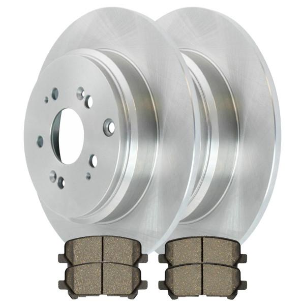[Rear Set] 2 Brake Rotors & 1 Set Ceramic Brake Pads - Part # CBO414711281CMD