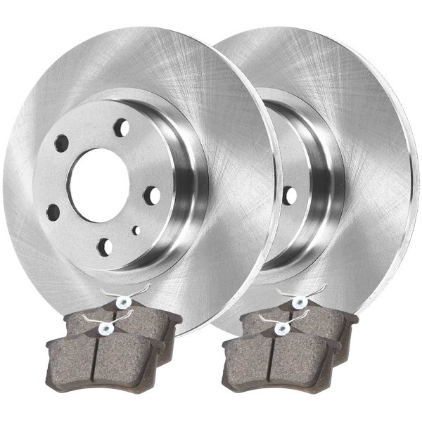 Rear Ceramic Brake Pad and Rotor Bundle 4 Wheel Disc 232mm Rotor Diameter - Part # CBO44146340CBE