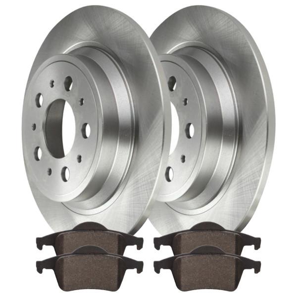 Rear Ceramic Brake Pad and Rotor Bundle - Part # CBO44208795CS8
