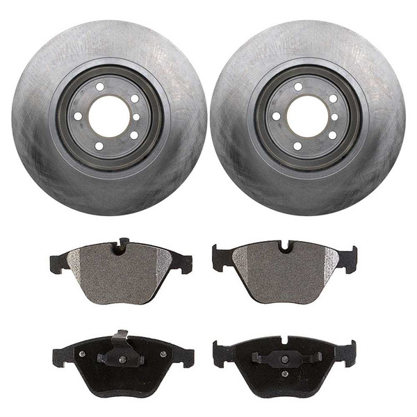 [Front Set] 2 Brake Rotors & 1 Set Ceramic Brake Pads - Part # CBO44388918C3X