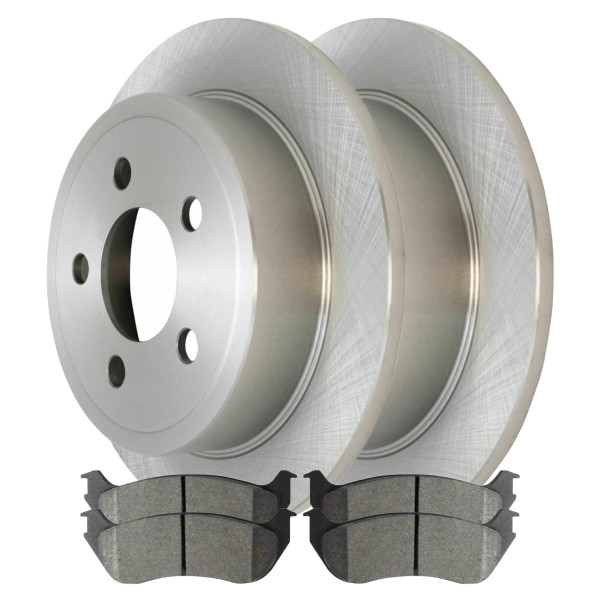 Rear Ceramic Brake Pad and Rotor Bundle 4 Wheel Disc - Part # CBO63012981CLI