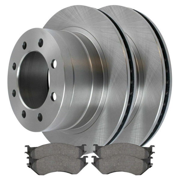 Rear Ceramic Brake Pad and Rotor Bundle 8 Stud - Part # CBO63013702ACRT