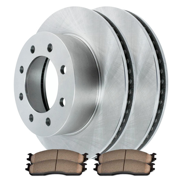 [Front Set] 2 Brake Rotors & 1 Set Ceramic Brake Pads - Part # CBO63014965CRAT