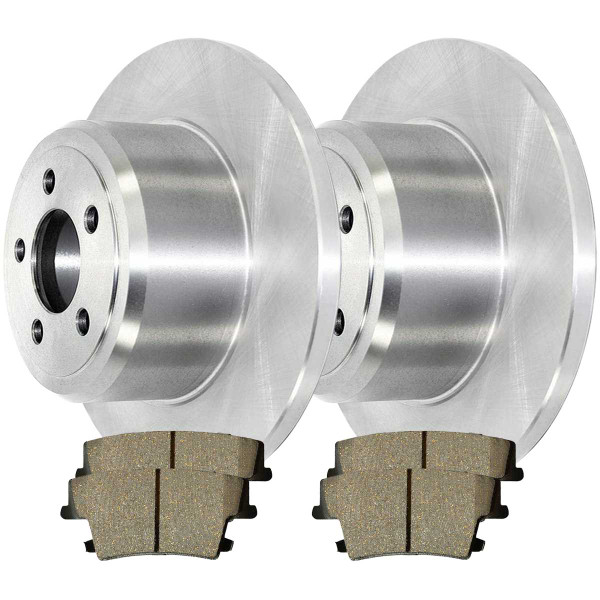 Rear Ceramic Brake Pad and Rotor Bundle Solid Rotors 12.60 Inch Diameter - Part # CBO630231057CHM
