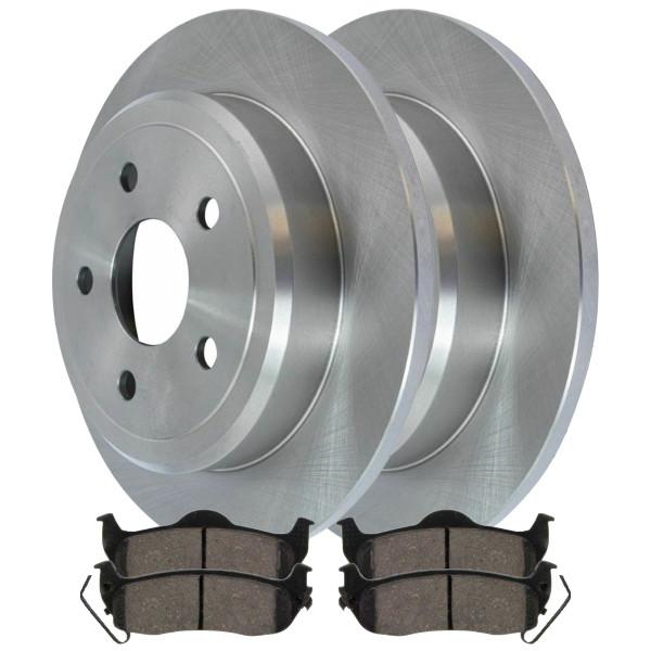 [Rear Set] 2 Brake Rotors & 1 Set Ceramic Brake Pads - Part # CBO630291041CCO