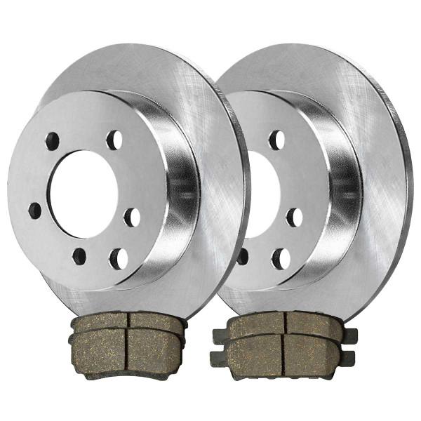 Rear Ceramic Brake Pad and Rotor Bundle 4 Wheel Disc 10.313 Inch Rotor Diameter - Part # CBO630381037CPA