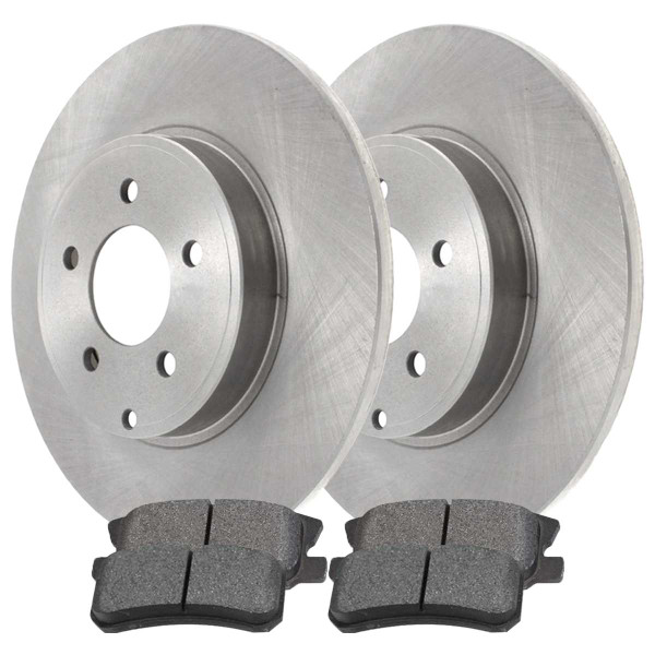 Rear Ceramic Brake Pad and Rotor Bundle 4 Wheel Disc 11.89 Inch Rotor Diameter - Part # CBO63045868CCO