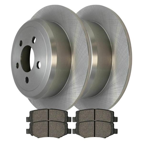 Rear Ceramic Brake Pad and Rotor Bundle - Part # CBO630461274CLI