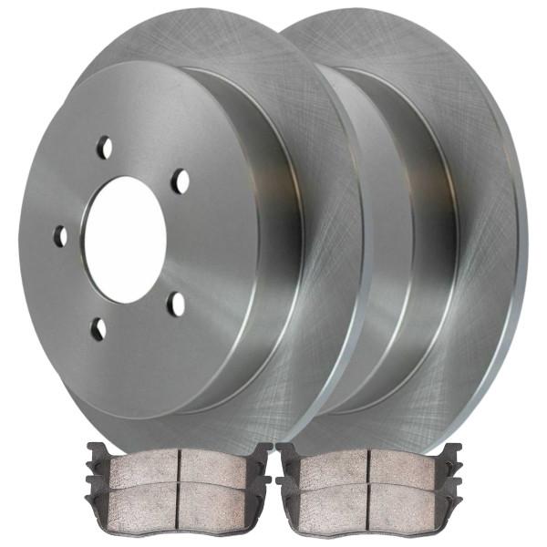 Rear Ceramic Brake Pad and Rotor Bundle 5 Stud 4 Wheel Disc - Part # CBO64092879CNA