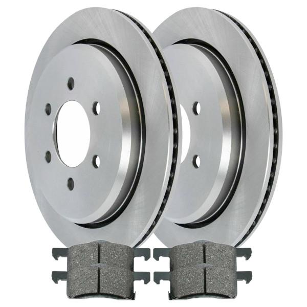 [Rear Set] 2 Brake Rotors & 1 Set Ceramic Brake Pads - Part # CBO64102935