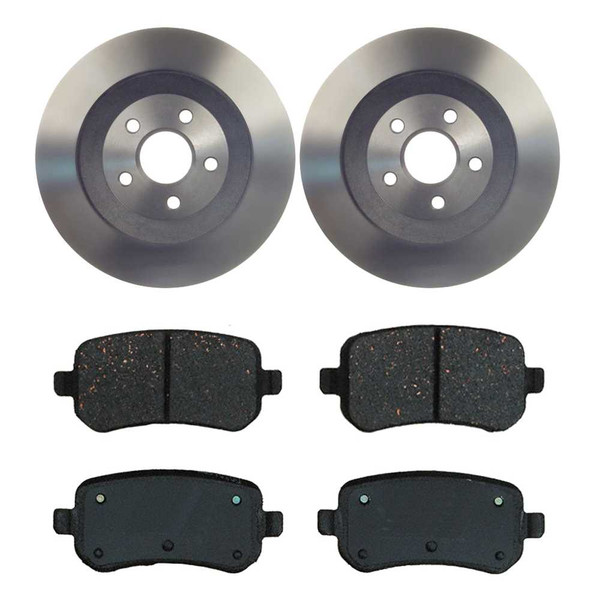 [Rear Set] 2 Brake Rotors & 1 Set Ceramic Brake Pads - Part # CBO641191021CFR