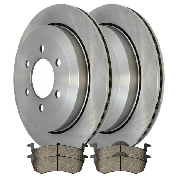 [Rear Set] 2 Brake Rotors & 1 Set Ceramic Brake Pads - Part # CBO641541279CEX