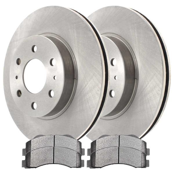 Front Ceramic Brake Pad and Rotor Bundle 6 Stud - Part # CBO641551414