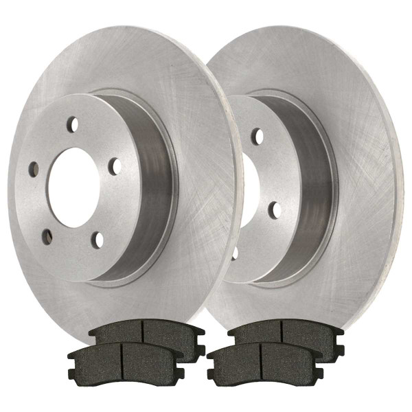 Rear Ceramic Brake Pad and Rotor Bundle 4 Wheel Disc - Part # CBO65041698CAL