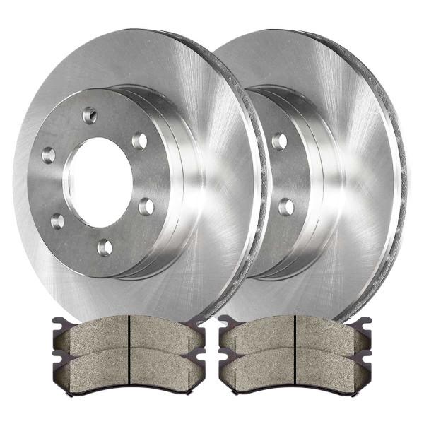 [Set] Complete Front Kit 2 Disc Rotors & 4 Metallic Brake Pads Set - Part # CBO65056785AVS