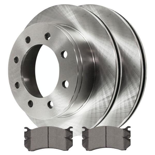 Complete Rear Kit Pair (2) of Disc Rotors and 4 Ceramic Brake Pads Set - Part # CBO65059785CSI