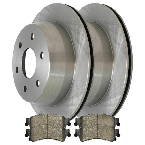 [Rear Set] 2 Brake Rotors & 1 Set Ceramic Brake Pads - Part # CBO65068792CS