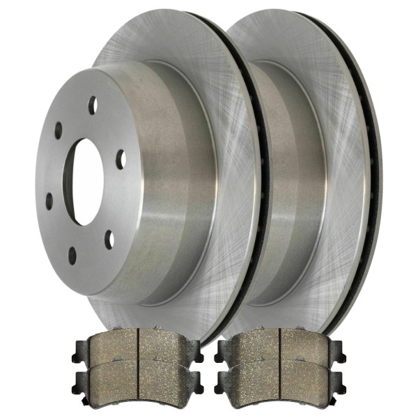 [Rear Set] 2 Brake Rotors & 1 Set Ceramic Brake Pads - Part # CBO65068792CS