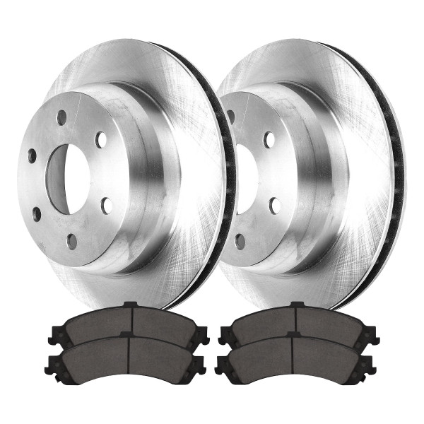 [Rear Set] 2 Brake Rotors & 1 Set Ceramic Brake Pads - Part # CBO65086834CSU