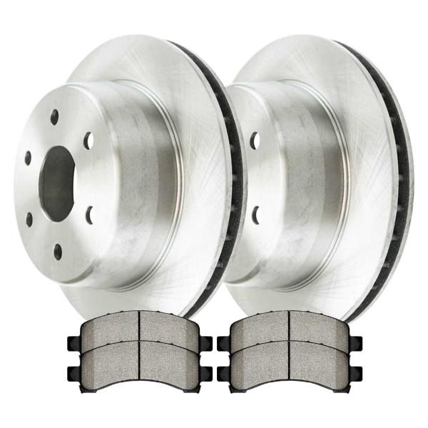 [Rear Set] 2 Brake Rotors & 1 Set Ceramic Brake Pads - Part # CBO65086974ACEX