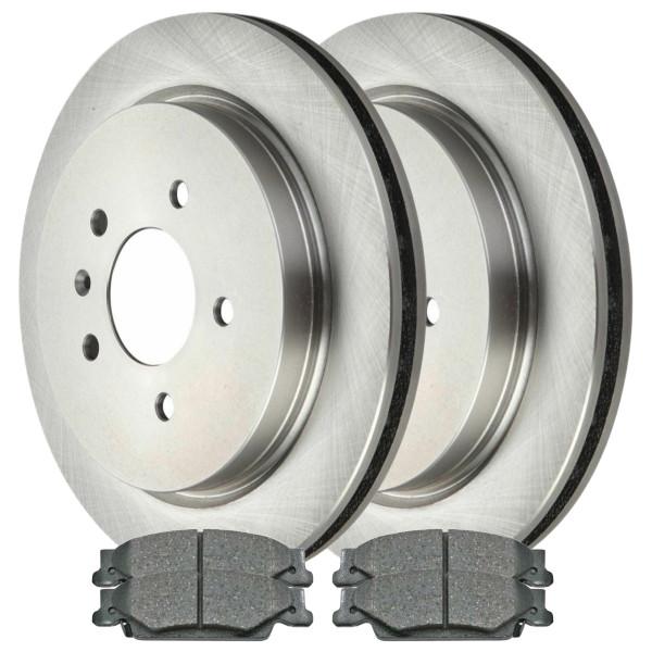 [Rear Set] 2 Brake Rotors & 1 Set Ceramic Brake Pads - Part # CBO65100922C32