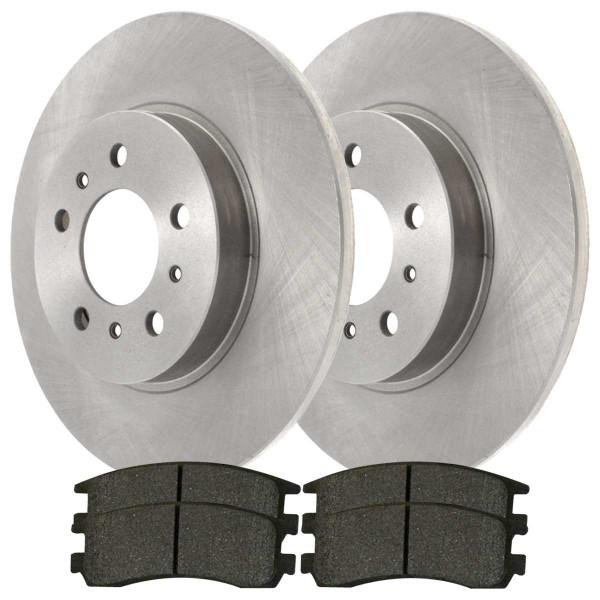 Rear Ceramic Brake Pad and Rotor Bundle - Part # CBO65127698CAL