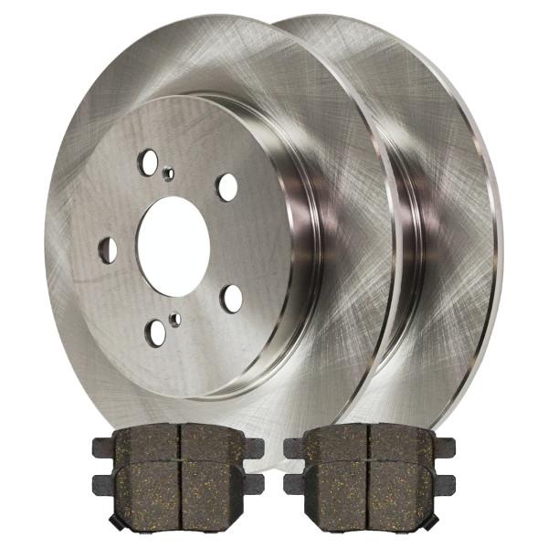 Rear Ceramic Brake Pad and Rotor Bundle 4 Wheel Disc 259mm Rotor Diameter - Part # CBO651611354CPR