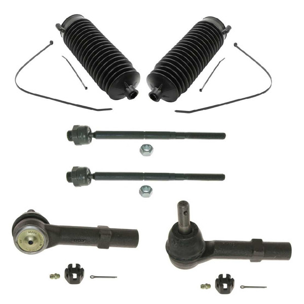6PC INNER OUTER TIE ROD END SET W/STEERING BOOT FOR CADILLAC - Part # CHSPKG0030