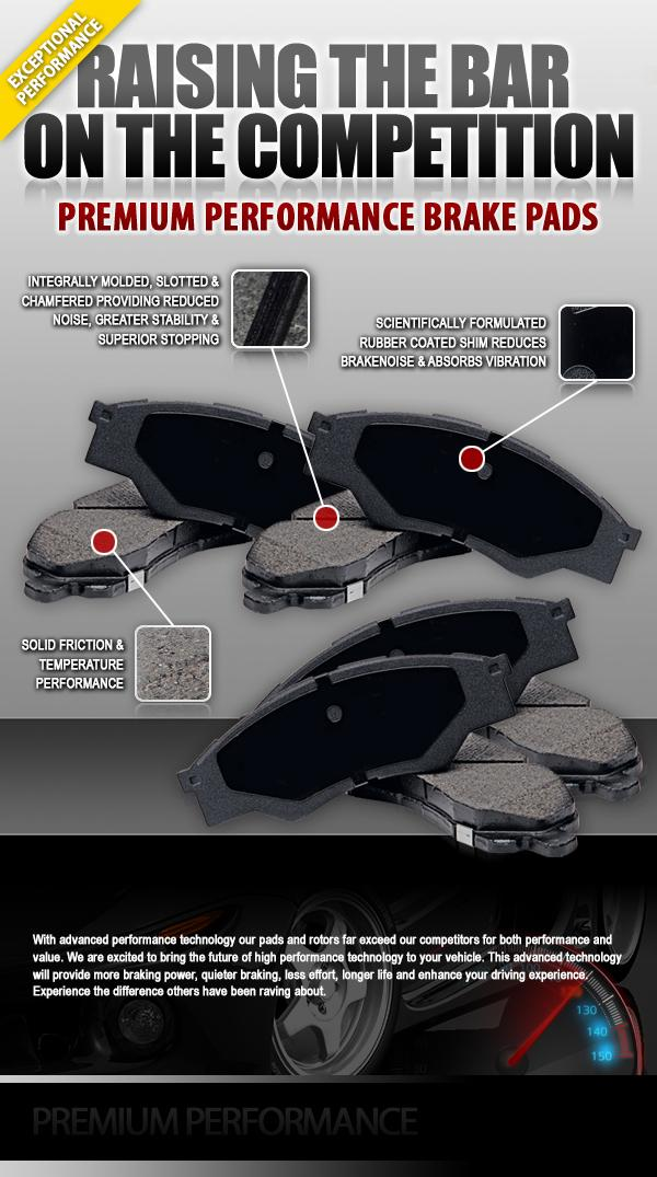 Exceptional performance, Increased performance & stopping power, Premium Performance Brake Pads