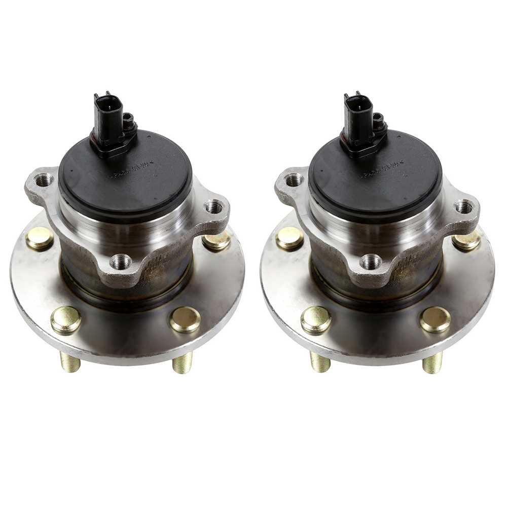 AutoShack HB612329PR Pair of 2 Wheel Bearing Hub Rear Driver and Passenger Side Wheel Hub Bearing and Assembly 5 Lugs with ABS Replacement for 2004-2008 Acura TSX 2005-2007 Honda Accord