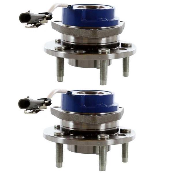Pair 2 Front Wheel Hub Bearing 5 Stud for 92-99 Pontiac Bonneville 4 Wheel ABS - Part # HB613089PR