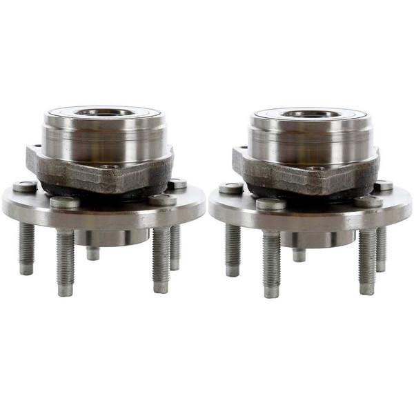 Pair 2 Front Wheel Hub Bearing 5 Stud for 96-07 Ford Taurus 96-05 Mercury Sable - Part # HB613102PR
