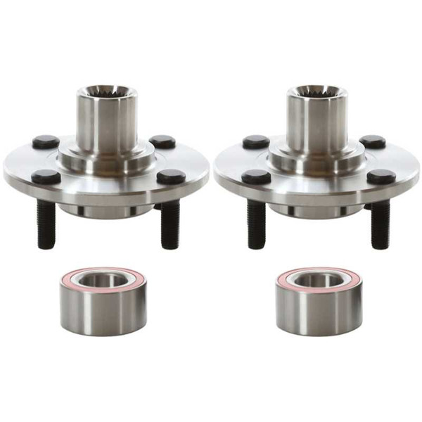 Front Wheel Hub Bearing Assembly Pair 2 Pieces Fits Driver and Passenger side - Part # HB618512PR
