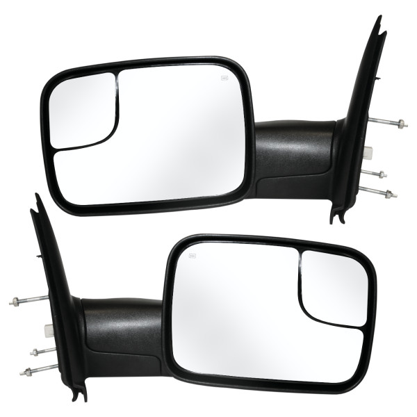 Power Heated Towing Side View Mirror Pair Set L/R - Part # KAPCH1320228PR