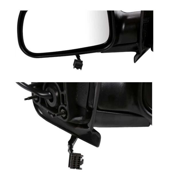 Manual Folding Driver Left Side Mirror for 2007-2012 Jeep Compass Corner Mount - Part # KAPCH1320266