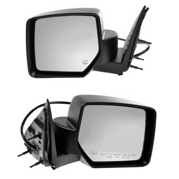 Pair Power Heated Textured Side Mirrors for 2008-2009 Jeep Liberty 3.7L - Part # KAPCH1320287PR