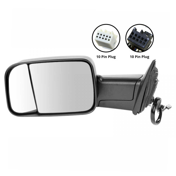 Driver Left Power Heated Towing LED Signal Puddle Lamp Side View Mirror - Part # KAPCH1320350