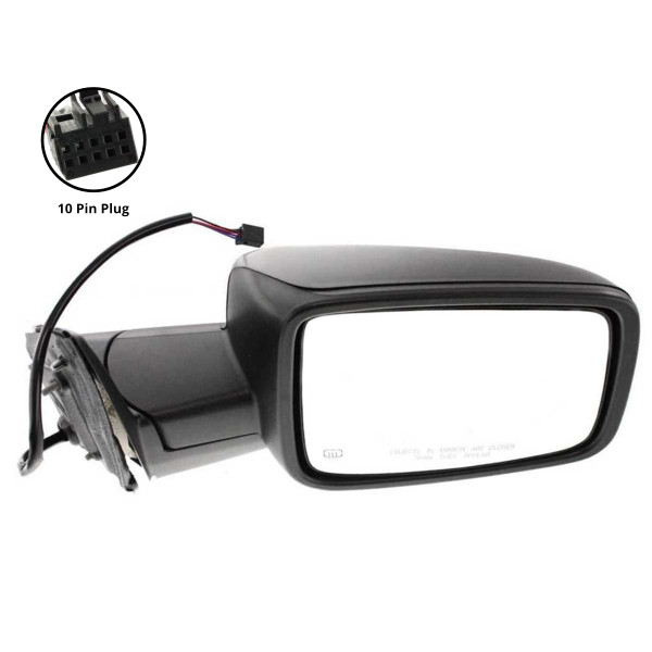 Passenger Right Power Heated Side View Mirror 10 Hole Connector - Part # KAPCH1321303